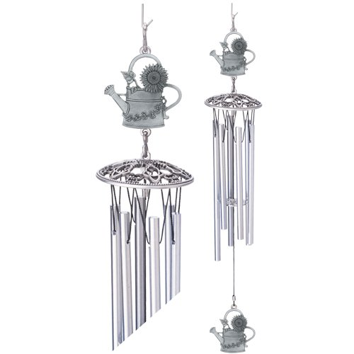 1pc, Pewter Water Can Wind Chime