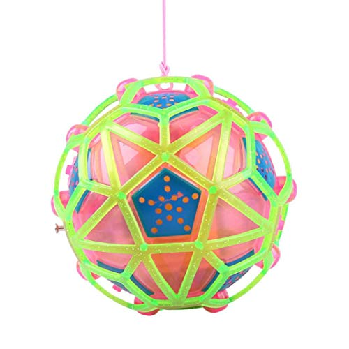 Livoty Music New Light-Up Ball Flash Kid Creative Puzzle Electric Bouncing Toy Education Toys (Random Color)