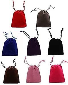 Queta Bolsas de Terciopelo con Cord/ón Negras 50pcs Bolsas de Joyer/ía Bolsas de de Regalo Peque/ñas Bolsa de Embalaje de Regalo de Boda Fiesta 12 /× 10 cm