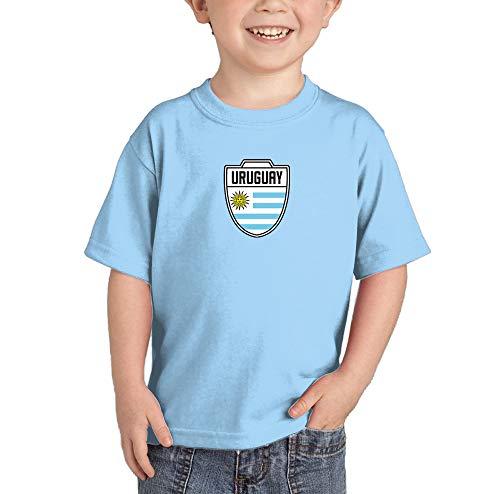 Uruguay - Country Soccer Crest Infant/Toddler Cotton Jersey T-Shirt (Light Blue, 4T) ()
