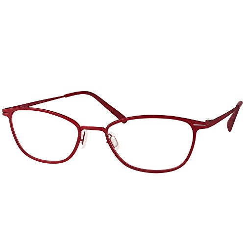 Modo 4406 BURG Burgundy Titanium Oval Eyeglasses 50mm