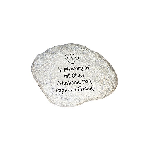 GiftsForYouNow Engraved Any Message Personalized Memorial Garden Stone (Garden Keepsake)