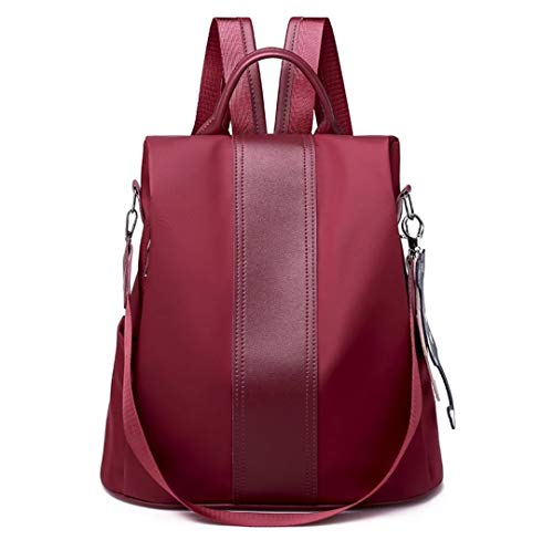 Nylon Backpack,Yun&Luo Womens Anti-theft Waterproof Back Pack Ladies Cute Cat Ornaments Rucksack Fashion Daypacks Purse Designer for Girls Lightweight Handbags School Bookbags 2019 Shoulder Bag Red