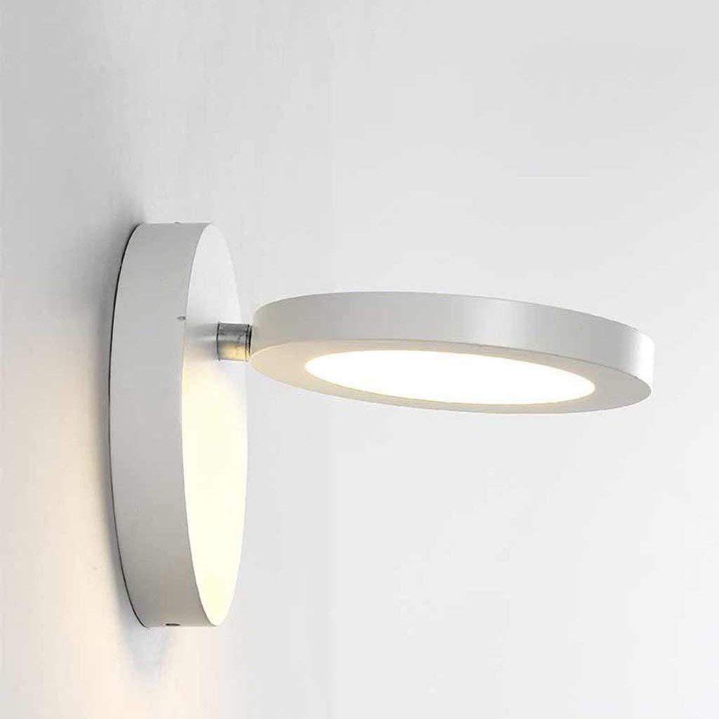 Weiß-warmes Licht Alvndarling LED Wandleuchte SchwarzSchale Weißszlig; Schale Wandleuchte Aluminium Wandleuchte Innenwandleuchte Schlafzimmer Wohnzimmer Flur Treppe (Farbe   Weißszlig;-Warmes licht)