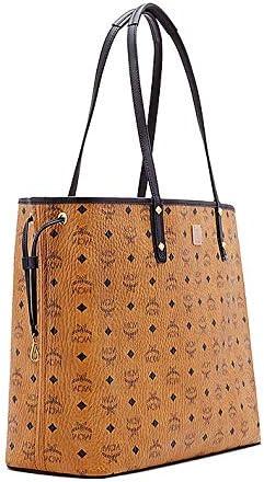 MCM Damen Reversible Shopper Project Visetos Large Cognac