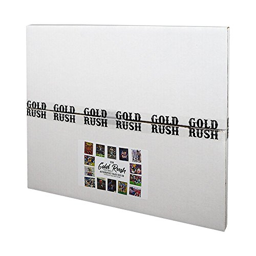 2018 Gold Rush Football Autographed 16x20 Edition Box - Gold Nfl Signature Football