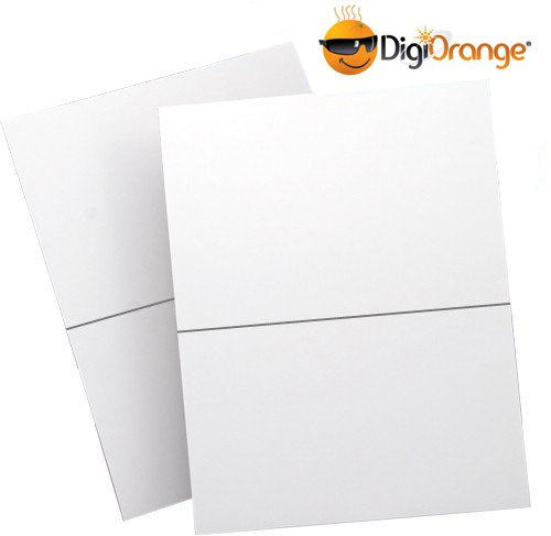 DigiOrange Easy Peel Shipping Labels for Inkjet/Laser Printers, 5.5 x 8.5 Inches, White, Pack of 400 labels