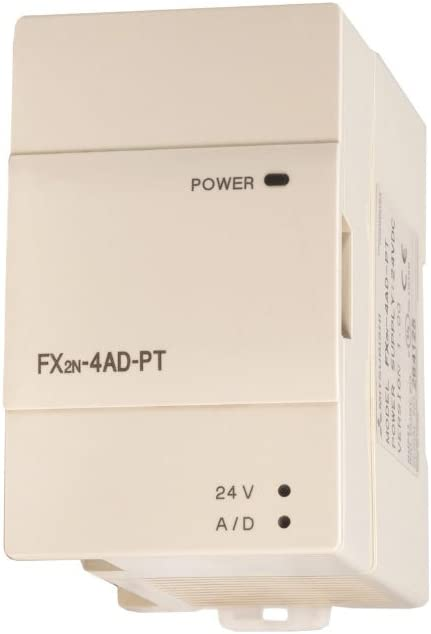 MITSUBISHI FX2N-4AD analog input module.
