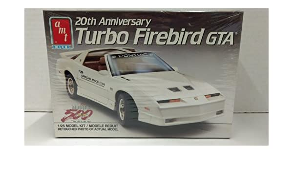 Amazon.com: AMT 6932 20th Anniversary 1989 Turbo Firebird GTA Indy 500 Official Pace Car 1:25 Scale Plastic Model Kit - Requires Assembly: Toys & Games