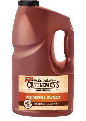 Cattlemen's 1 Gallon Memphis Sweet BBQ Sauce Contest Winner: No High Fructose Corn (Dynasty Sweet)
