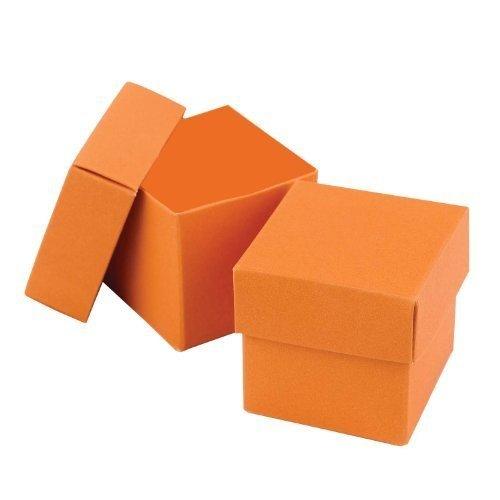 Favor 2 Piece Boxes - Hortense B. Hewitt Wedding Accessories 2-Piece Favor Boxes, Orange, Pack of 25