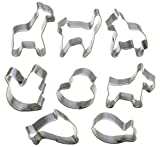 StarPack Premium Mini Animal Cookie Cutters including Goldfish Cookie Cutter, Bonus 101 Cooking Tips