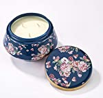LA JOLIE MUSE Scented Candle 16OZ Large Ceramic Jar Soy Candle Gift, Bamboo Lime Fresh Home Fragrance, 3-Wick Natural Wax