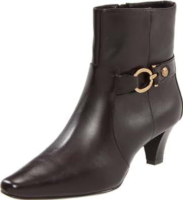 AK Anne Klein Women's Greta Ankle Boot,Brown,6.5 M US