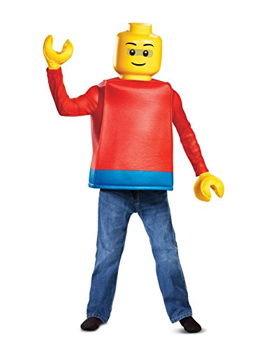 Disguise Lego Guy Classic Child Costume, Red, Medium/(7-8)