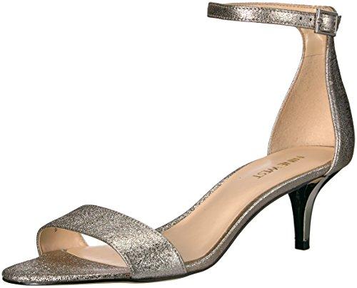 Metallic Heeled Sandal Leisa Nine Women Gunmetal West UfxOfz