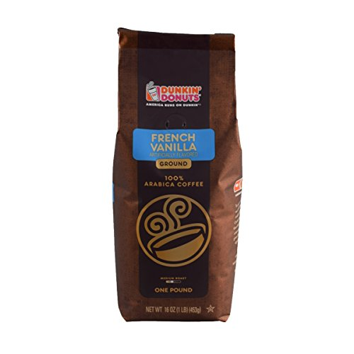 Dunkin Donuts Ground Coffee (1lb Bag, French Vanilla)