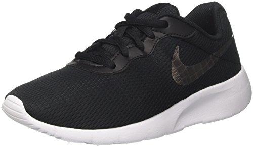 Nike Unisex-Kinder Tanjun (GS) Laufschuhe Schwarz (Black/Mtlc Pewter/White 014)