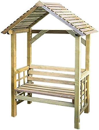 El Cenador Athena Jardín Asiento banco de madera: Amazon.es: Jardín