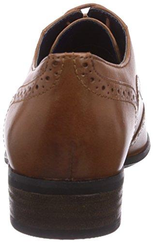 Dark Tan Lea cuero Zapato mujer Marrón de Clarks Hamble Oak brogue qxpv8v1zw