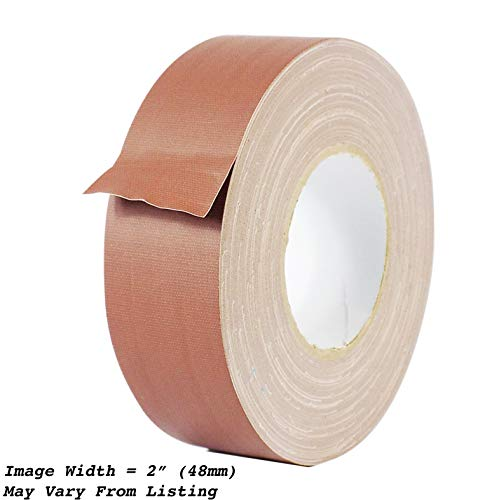 (MAT Gaffer Tape Brown Low Gloss Finish Film - 4 in. x 60 Yards - Residue Free, Non Reflective, Better Than Duct Tape (Available in Multiple Colors))