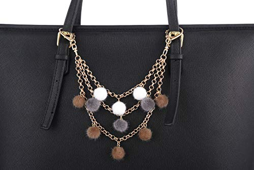 9d0f93fb8 Giftale Furry Keychain for Women, Pom Pom Bag Charm Faux Fur Purse  Accessories