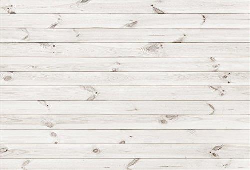 Vintage Floorboards - AOFOTO 6x4ft White Wood Plank Photography Background Vintage Wooden Panel Backdrop Hardwood Wall Fence Floor Board Still Life Shooting Decor Infant Newborn Portrait Photo Studio Props Vinyl Wallpaper
