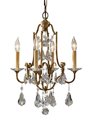 Murray Feiss F2480/4OBZ, Valentina Mini Crystal Chandelier Lighting, 4 Light, 240 Watts, Bronze - Crystal Polished Lighting