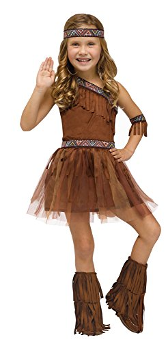 Little Girls Give Thanks American Indian Costume 8-10 (Cute Indian Costumes For Girls)