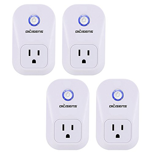 Price comparison product image Smart Plug, Alexa Socket Outlet DILISENS Wireless Timing Smart Switch Remote Control Your Smart Home Devices, Wi-FI, No Hub Required, Works with Amazon Echo / Google Home- UL Listed (4 Pack )