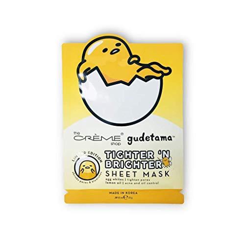 The Crème Shop: Gudetama Tighter 'N Brighter Sheet Face Mask (Egg White And Lemon For Acne Scars)