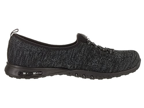 Skechers Relaxed Fit Air Easy Womens Slip On Sneakers Nero