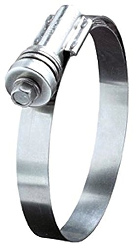 Ideal Tridon 4540051 Stainless Steel Flex-Gear 45 Series 300 Constant Tension Worm Gear Hose Clamp, 412 SAE Size, Fits 3-1/4 - 4-1/8'' Hose ID