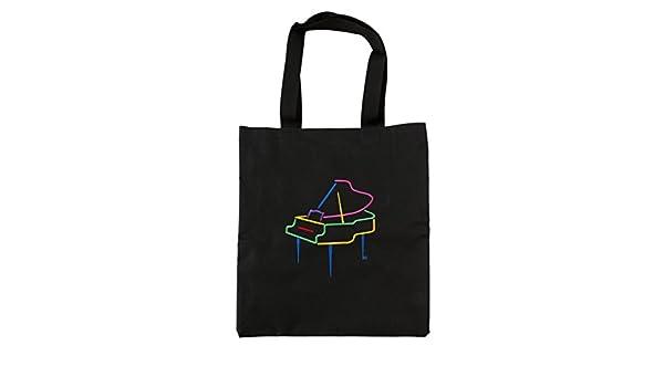 Negro bolso bolsa con bordado Grand Piano: Amazon.es ...