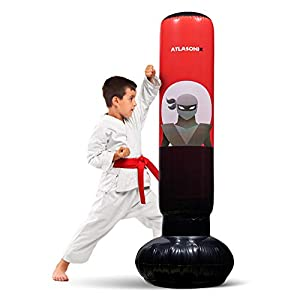 Well-Being-Matters 412xq1hVcKL._SS300_ Inflatable Kids Punching Bag – Free Standing Ninja Boxing Bag for Immediate Bounce-Back for Practicing Karate, Taekwondo…
