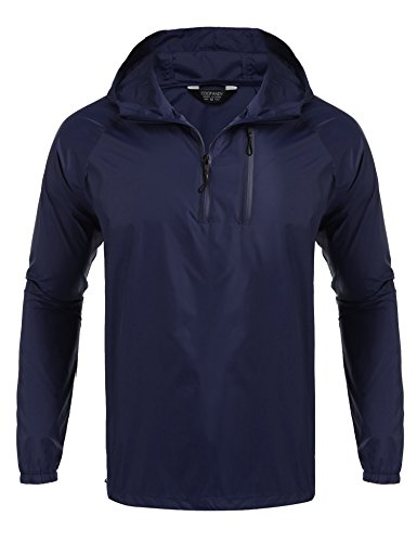 Navy Pullover Windbreaker - 8