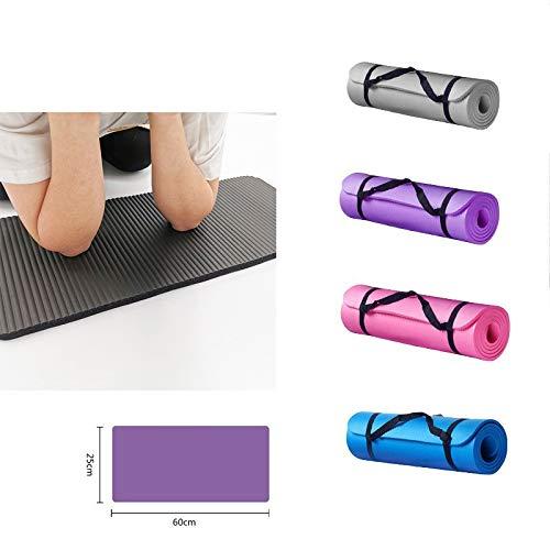 Risaho Gymnastikmatte, Yogamatte Yogamatte Gepolstert & rutschfest für Fitness Pilates & Gymnastik mit Tragegurt für Yoga Pilates Sport 60 x 25 x 1.5cm (schwarz)