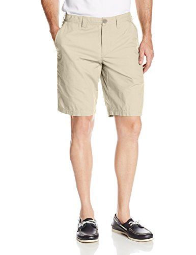 (Columbia Big and Tall Men's Washed Out Chino Short, Fossil, 34x10)