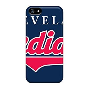 Rugged Skin Case Cover For Iphone 5/5s- Eco-friendly Packaging(cleveland Indians)