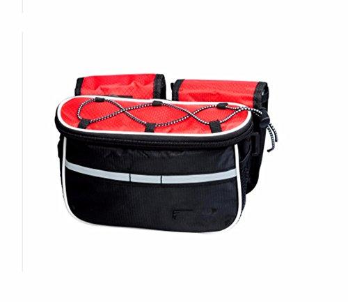 Bike Rack Taschen Fahrradtaschen vorne Strahlrohr mit einem Mountainbike Sattel Tasche und Reitbekleidung Zubehör, Rot