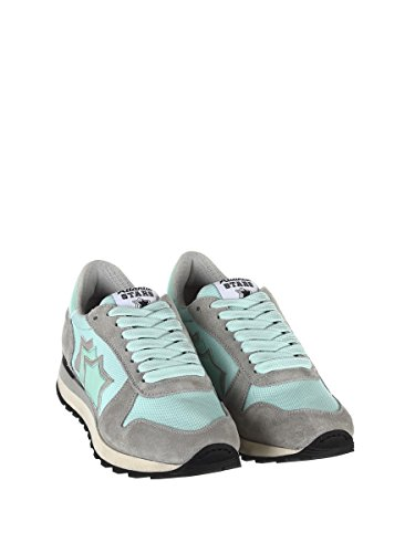 Sneakers Light Stars Leather Blue Women's Atlantic ALHENAABNYNP Grey x0wtYYd