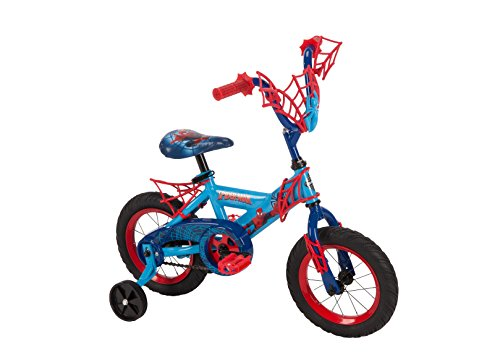 "HUFFY BOYS' MARVEL SPIDER-MAN 12"" BIKE w/ WEBTRAP HANDLEBAR"