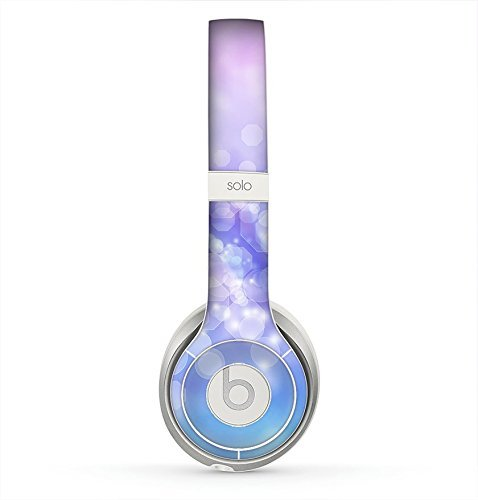The Blue and Purple Translucent Glimmer Lights Skin for the Beats by Dre Solo 2 Headphones (Decal Only)