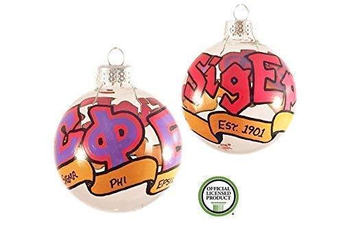 Whimsical Hand Painted Sigma Phi Epsilon Christmas Ornament