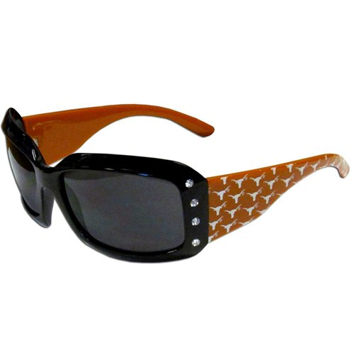 (NCAA Texas Longhorns Women's Rhinestone Designer Sunglasses)