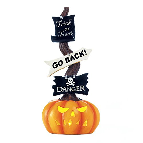 Spooky Pumpkin Halloween Light-Up (Night Glow Go Back Sign)