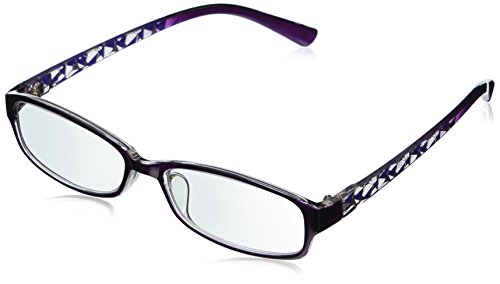 EyeBuyExpress Rectangle Violet Reading Glasses Magnification Strength 0.75