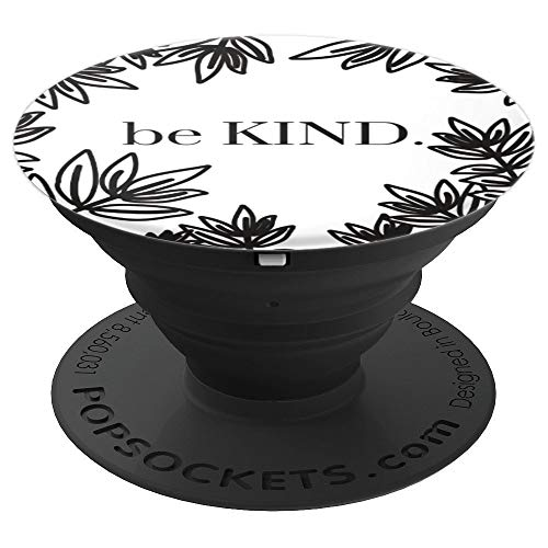 Popsockets Black and White Floral - PopSockets Grip and Stand for Phones and Tablets