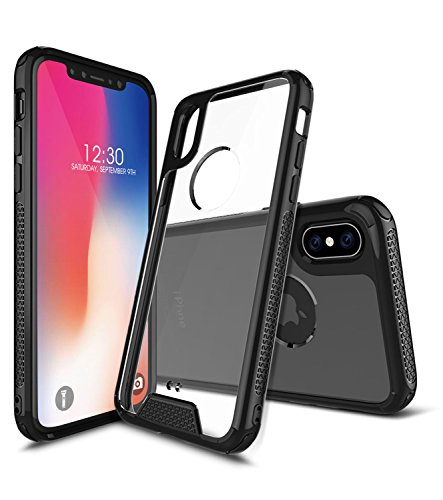 iPhone X Case, Otufan Shock-Absorption Protective Bumper Case with Anti-Scratch Clear Back Cover for Apple iPhone X (Support Wireless Charging)