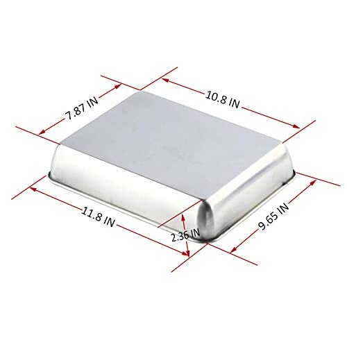 Sheet Pan,Cookie Sheet,Heavy Duty Stainless Steel Baking Pans,Toaster Oven Pan,Jelly Roll Pan,Barbeque Grill Pan,Deep Edge,Superior Mirror Finish, Dishwasher Safe By Meleg Otthon